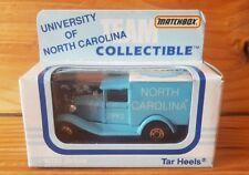 Matchbox TEAM COLLECTIBLE 1992 NORTH CAROLINA TAR HEELS (A+/C) New,Old Stock