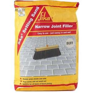 SIKA SETTING SAND NARROW JOINT BLOCK PAVING FILLER JOINTING COMPOUND BUFF 20KG
