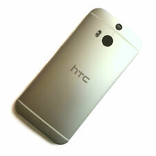 100% Original Htc One M8 Carcasa Trasera anodizado Plata + Botón De Volumen