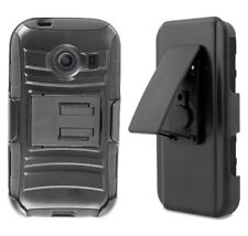 For Galaxy Ace Style S765 Armor Hybrid Belt Clip Holster Kickstand Case  Black