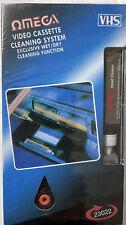 More details for omega 23022 vhs vcr cassette tape video recorder head cleaner system wet & dry