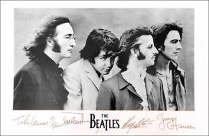 The BEATLES John Paul George Ringo Famous Best Picture Signatures Poster
