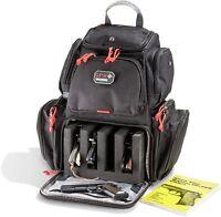 G.P.S. Handgunner Backpack BLACK w/RED Shooting Range Bag Pistol Travel Case-