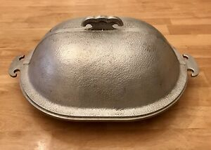 """Guardian Service Oval 12"""" x 9.5"""" Covered 2-pc Aluminum Cookwear VGC"""