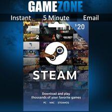 Vapor USD $20 Dólar estadounidense código de tarjeta de prepago Steam Wallet para Juego-EE. UU.