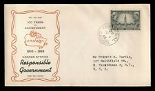 DR WHO 1948 CANADA FDC RESPONSIBLE GOVERNMENT  C228360