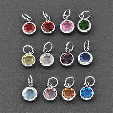 Stainless Steel Set Birthstone Crystal Jewelry Charm 12pcs/lot Bracelet Charm