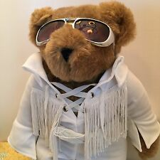 Elvis Vermont Teddy Bear Fringed Jumpsuit Sunglasses Love Me Tender Bear 15""