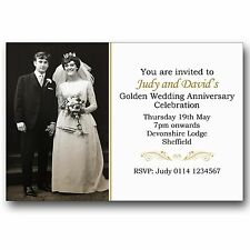 Buy anniversary invitation cards ebay 10 personalised golden wedding anniversary photo invitations m99 stopboris Images