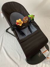 BabyBjorn Soft Bouncer With Toy Bar- Black/Gray