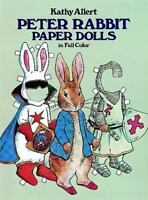 Peter Rabbit Paper Dolls in Full Color by Kathy Allert Paper Doll Book