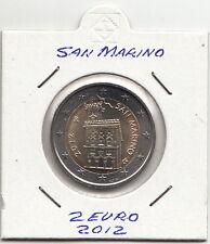 SAN MARINO MONETA FDC UNC  DA 2 EURO ANNO 2012  RARO REGALO DA SET ZECCA