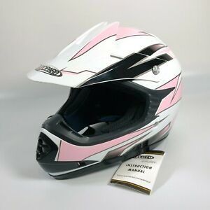 LEOPARD LEO-X16 Junior Girls PINK Motocross Helmet YOUTH LARGE - NEW WITH TAGS
