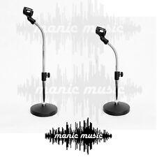 Desktop Adjustable Microphone Mic Stand Heavy Base Flexiable Gooseneck Drum