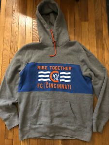 Homage FC Cincinnati MLS Hoodie Sweatshirt, Size Large