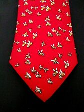 346 Brooks Brothers Pure Silk Neck Tie Bees Red Made in Usa