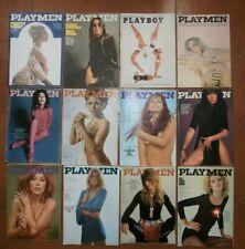 12 riviste Playmen 1967-1969 Playboy Bardot Cardinale Poster Secret Agent 007