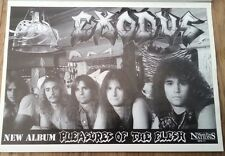 EXODUS Pleasures OF The Flesh 1987 magazine ADVERT/Poster/clipping 11x8 inches