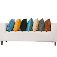 Soft Simple Throw Pillow Case Velvet Cushion Cover Sofa Home Décor Accessory