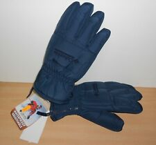 Columbia snow Heat Winter Gloves Waterproof Breathable Blue Men's sz SMALL