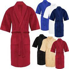 Unisex Terry Towelling Bathrobe 100% Egyptian Cotton NightWear Shawl & Kimono