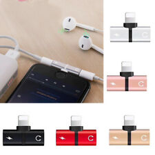 2 in1 Dual Lightning Adapter Charging Splitter Audio Cable For iPhone XS Max XR