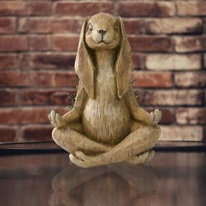 Yoga Pose Rabbit Resin Garden Decoration Statue  Modern Art Animal Home DecoBJN