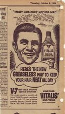 1953 newspaper ad for Vitalis - Doak Walker - Detroit Lions Star Halfback