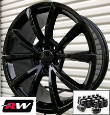 "20"" inch RW Wheels for Jeep Grand Cherokee 20x9"" Gloss Black SRT Rims & Lug Nuts"