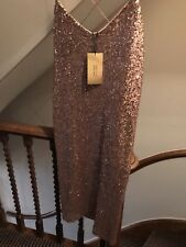 BNWT Zara Rose Gold Sequin Party Dress size L