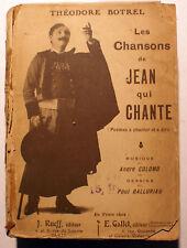 BOTREL/JEAN QUI CHANTE/ED RUEFF/1907/DESSINS DE BALLURIAU/A RELIER