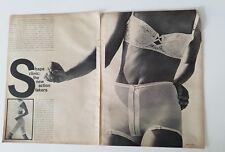 1954 women's TREO panty girdle Perma lift long girdle bra fashion ad