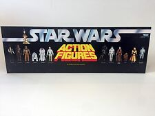 "brand new star wars first 12  figures shop store display header 36""x12"""