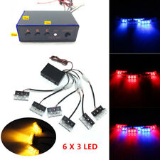 Car SUV LED Strobe Emergency Flashing Police Warning Grill Light W/ Control Box