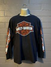Vintage 1997 Harley Davidson Long Sleeve T-Shirt Worn In Men's Size XL Authen