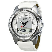 Tissot T-Touch II Multi-Function Titanium White band Ladies Watch T0472204608600