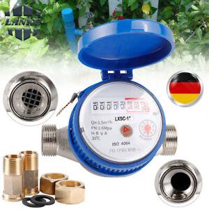 Garten Wasserzähler 2021 Geeicht Kaltwasserzähler Wasseruhr Zapfhahn Kaltwasser
