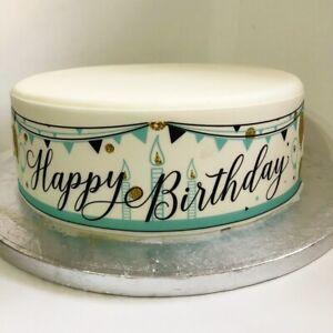 Happy Birthday eßbar Torten-Band-Bordüre-Bild Party Deko Banner Geburtstag neu