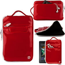 Red Patent Leather Vertical Carrying Bag Case Sleeve for iPad Mini 4 / 3  7.9in