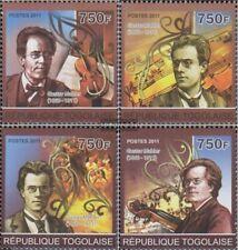 Togo 3909-3912 (kompl.Ausg.) postfrisch 2011 Gustav Mahler