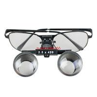 Super Metal Dental Dentist Surgical Binocular Loupes glasses 2.5X 420mm Magnify
