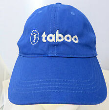 Taboo Golf baseball  cap hat adjustable v