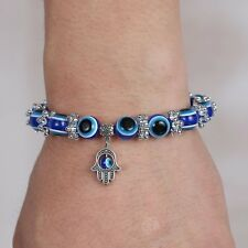 HOT WOMEN EVIL EYE LUCKY FRIENDSHIP BANGLE JEWELRY MURANO GLASS BEADS BRACELET