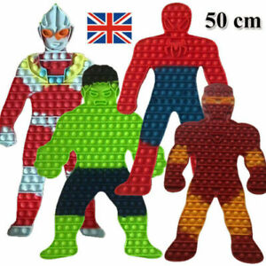 Spiderman/Hulk Push it Bubble Pop Fidget Sensory Toy ADHD Stress Reliever Toys