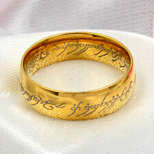 Unisex Lord of the Rings Stainless Steel The One Ring Bilbo's Hobbit Black Ring