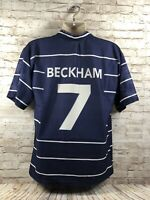 MANCHESTER UNITED 1998/1999/2000 HOME FOOTBALL SHIRT JERSEY #7 BECKHAM  L/XL