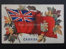 CANADA Flag & Coats of Arms c1908 by Raphael Tuck & Son 2552 (PM) GILCHRIST CO