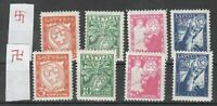 Latvia 1936 Mi 242-5, 2 sets with Normal and Inverted watermark, MNH-MLH OG