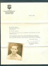 1946 William & Mary admission documents Wilbur Hughes 317th Troop Carrier Group