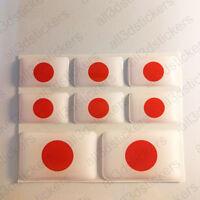 Pegatinas Japon Pegatina Bandera Japon Vinilo Adhesivo 3D Relieve Resina